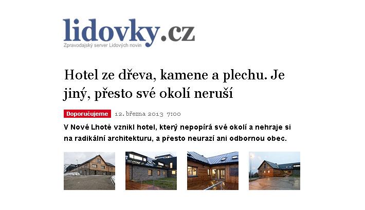 lidovky.cz - článek o hotelu Háj